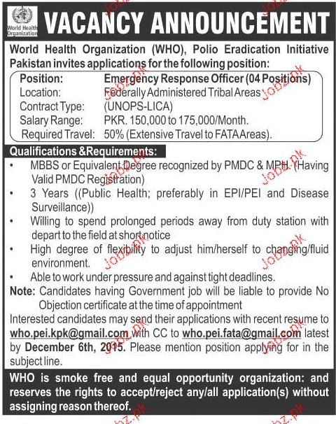 Emergency Response Officers Job Opportunity