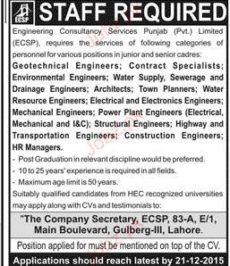 Geotechnical Engineers, Contract Specialists Job Opportunity
