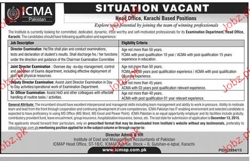 Director Examination, Junior Director Job Opportunity
