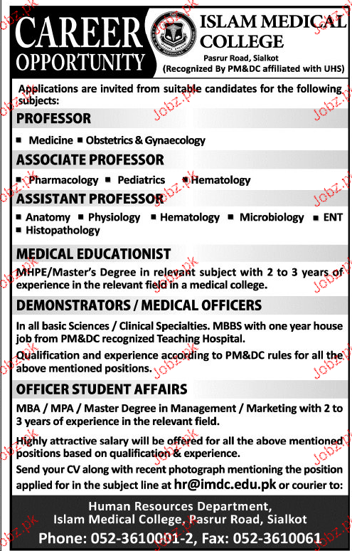 Professor, Associate Professors, Associate Professors Wanted