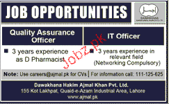 Quality Assurance Officers and IT Officers Job Opportunity