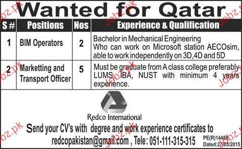 bim operators and transport officers job opportunity