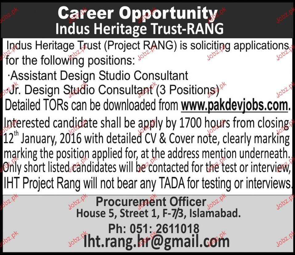 Assistant design studio consultants job opportunity 2018 for Design consultant jobs