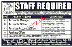 Accounts Manager, Accounts Officers Job Opportunity