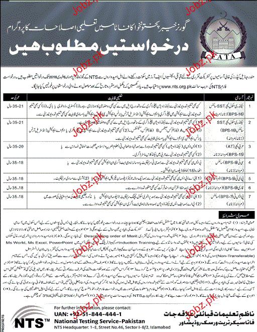 Teachers Job in KPk Education Department 2019 Job Advertisement Pakistan