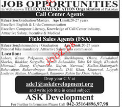 Field Sales Agents and Call Center Agents Job Opportunity