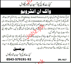 Security Guards Job in Cadet College Choa Saiden Shah