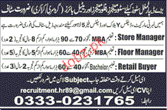 Store Manager, Floor Manager and Retail Buyers Wanted