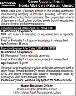 Executive Sales & Marketing and Executive Engineer Wanted