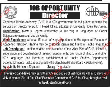 Director Job Opportunity