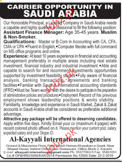 Assistant Finance Manager Job Opportunity