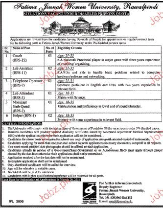 Coach, Lab Assistants, Telephone Operators Wanted