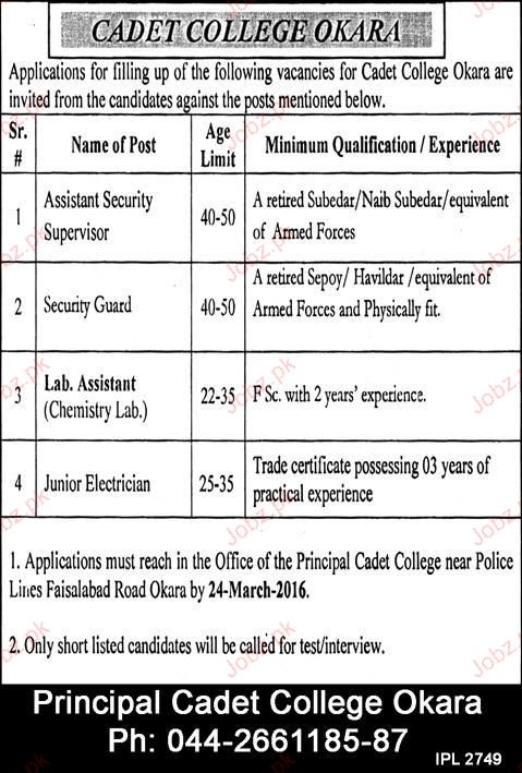 Assistant Security Supervisor and Security Guards Wanted