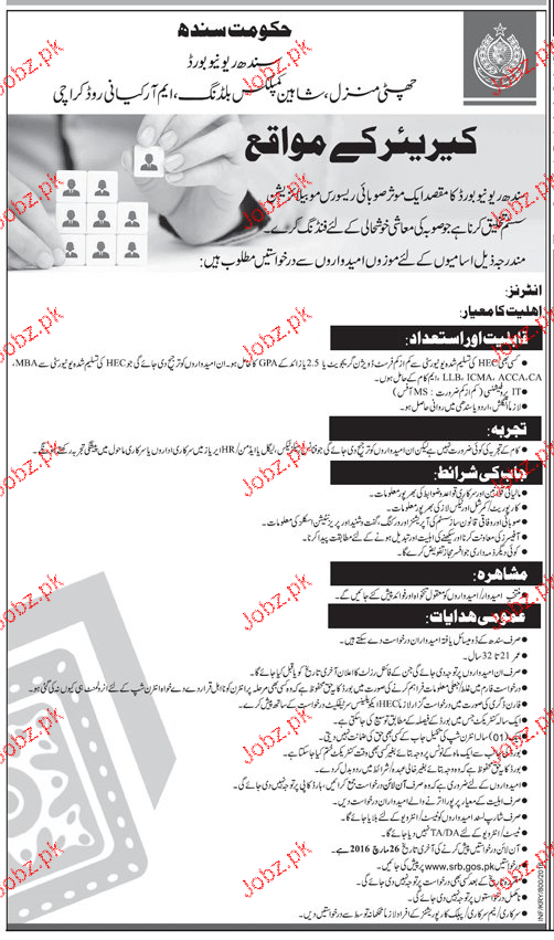 Male / Female Staff Job in Govt of Sindh 2019 Job Advertisement Pakistan