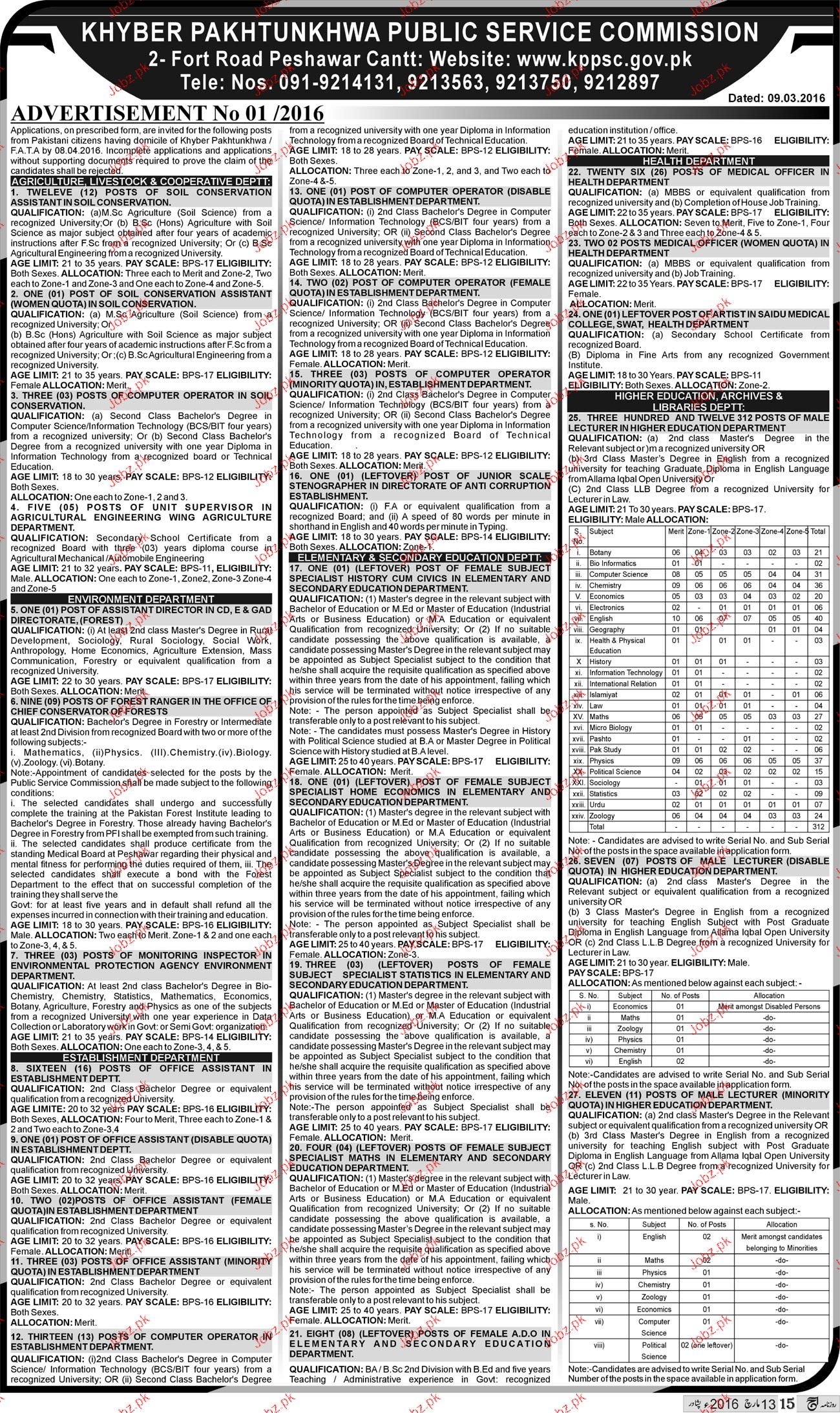 Assistants, Computer Operator Job KPPKPSC