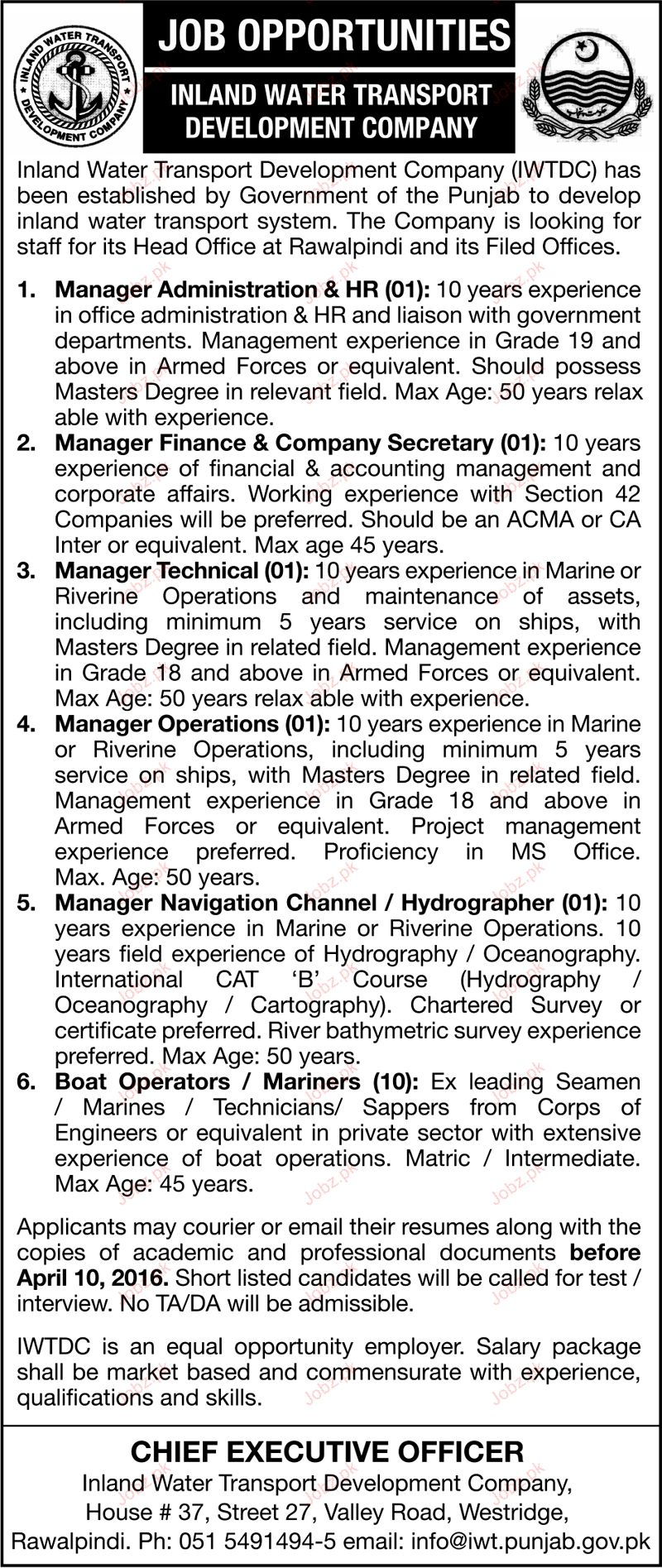 Manager Administration, Manager Finance Wanted