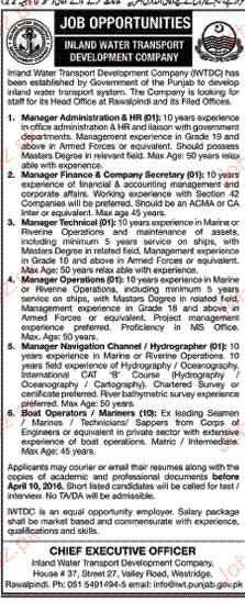 Manager navigation, Manger Operation job Opportunity
