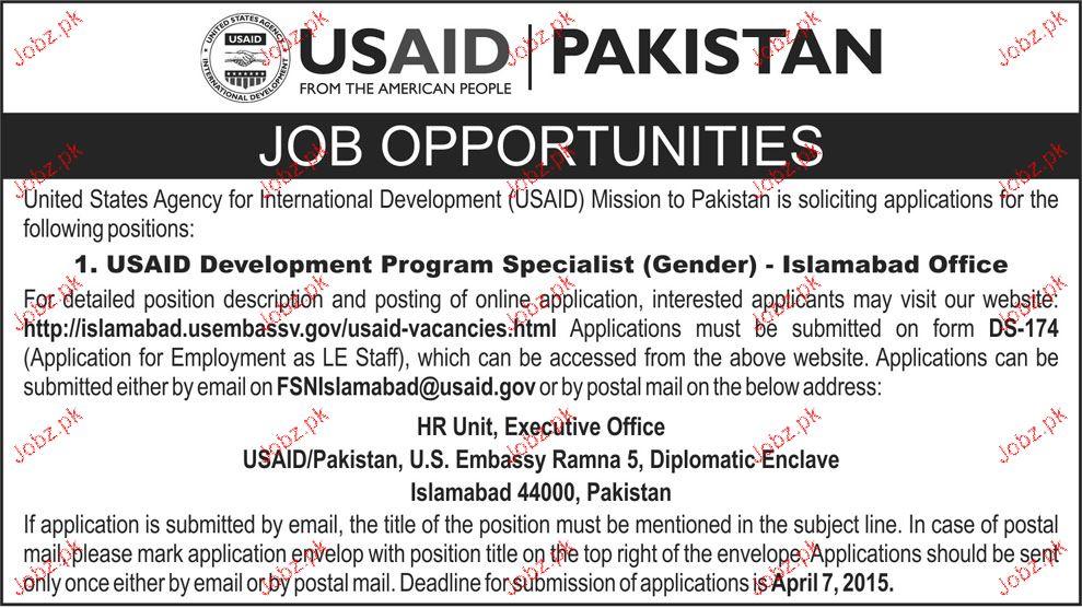 USAID Development Program Specialist Job Opportunity