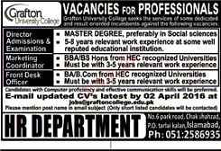 Director Admission, Marketing Coordinator Wanted