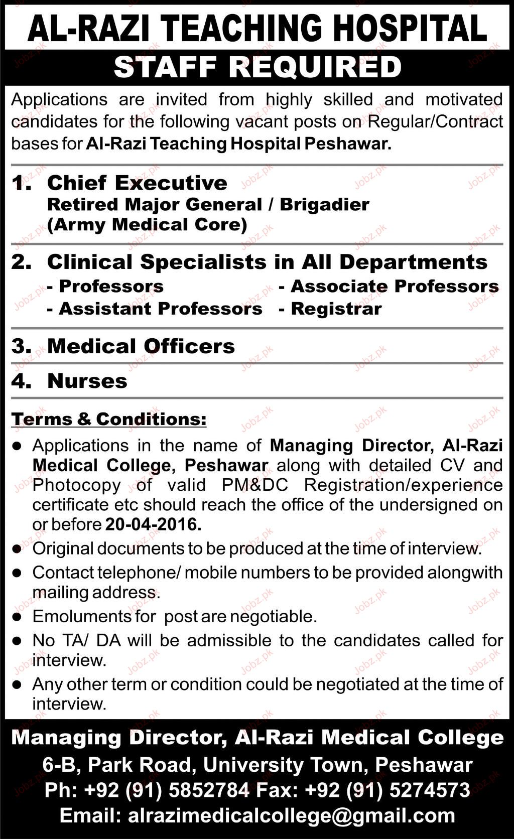 Chief Executive, Clinical Specialists Job Opportunity