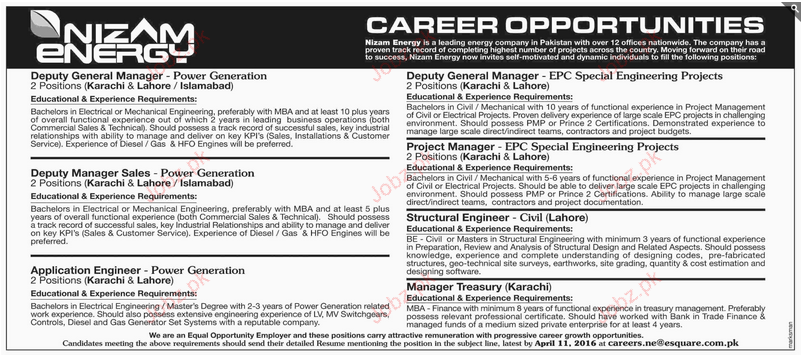 Deputy General Manager, Application Manager Wanted