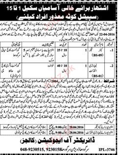Care Takers and Laboratory Attendants Job Opportunity