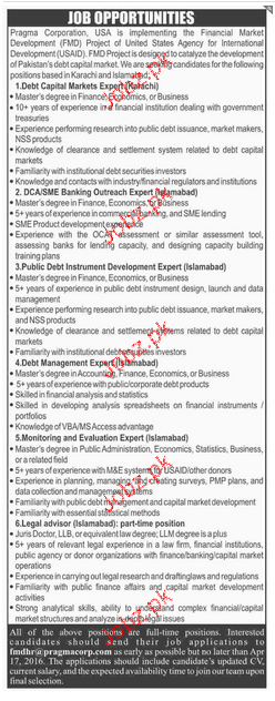 Debt Capital Markets Experts Job Opportunity