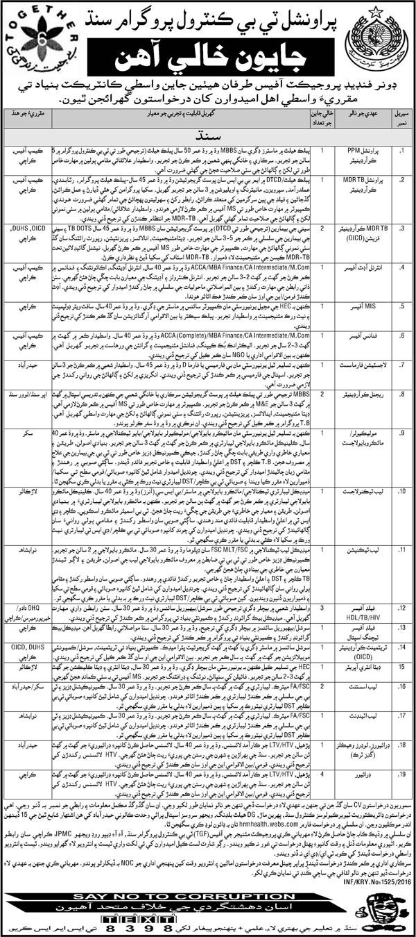Provincial Coordinators, MDTR Coordinators Wanted