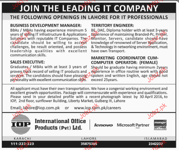 Business Development Manager, Sales Executives Wanted