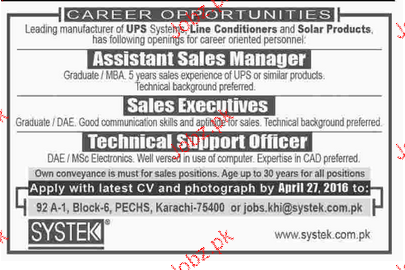 Assistant Sales Manager, Sales Executives Wanted