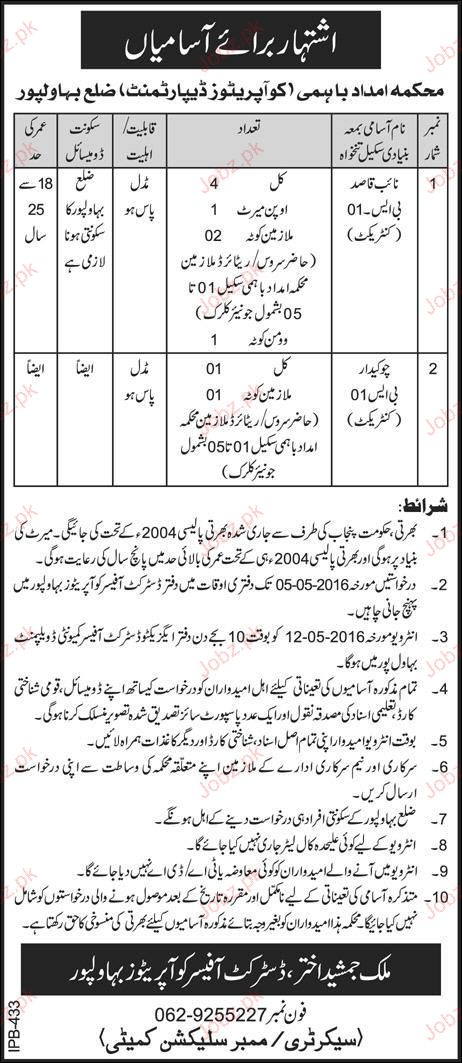 Naib Qasid Job in Fisheries Department
