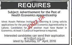 Health Economists Job Opportunity
