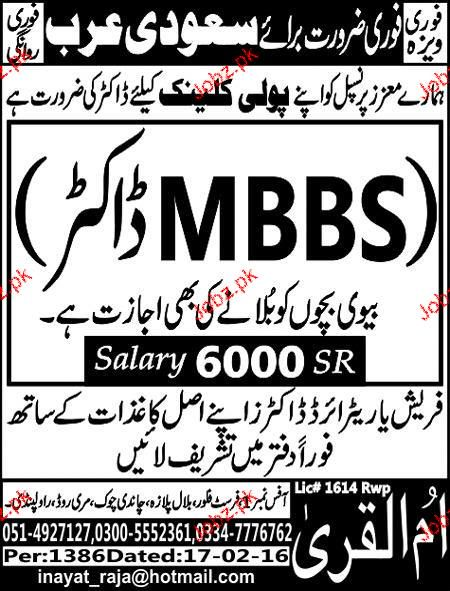 MBBS Doctors Job Opportunity