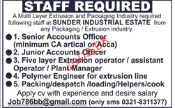 Senior Account Officers, Junior Account Officers Wanted