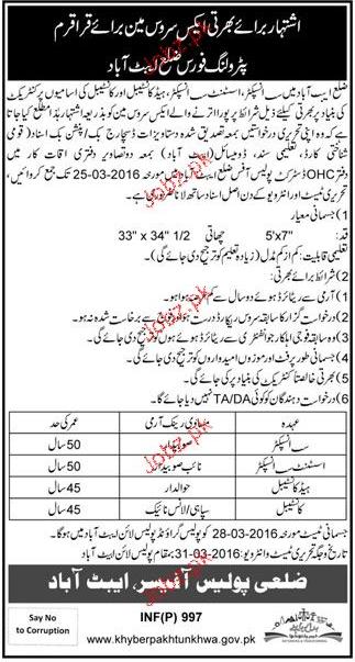 Recruitment of Sub Inspectors, ASI, Constables