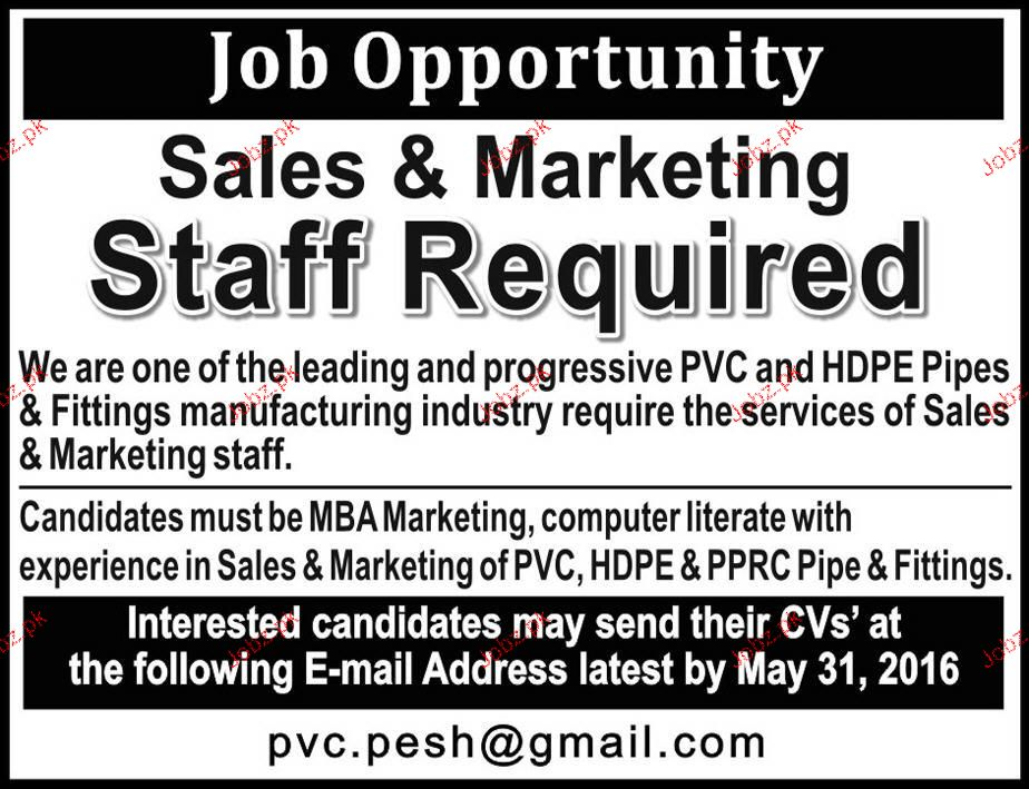sales and marketing staff job opportunity 2018 jobs pakistan. Black Bedroom Furniture Sets. Home Design Ideas