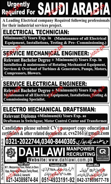 Electrical Technicians, Electrical Engineers Job Opportunity