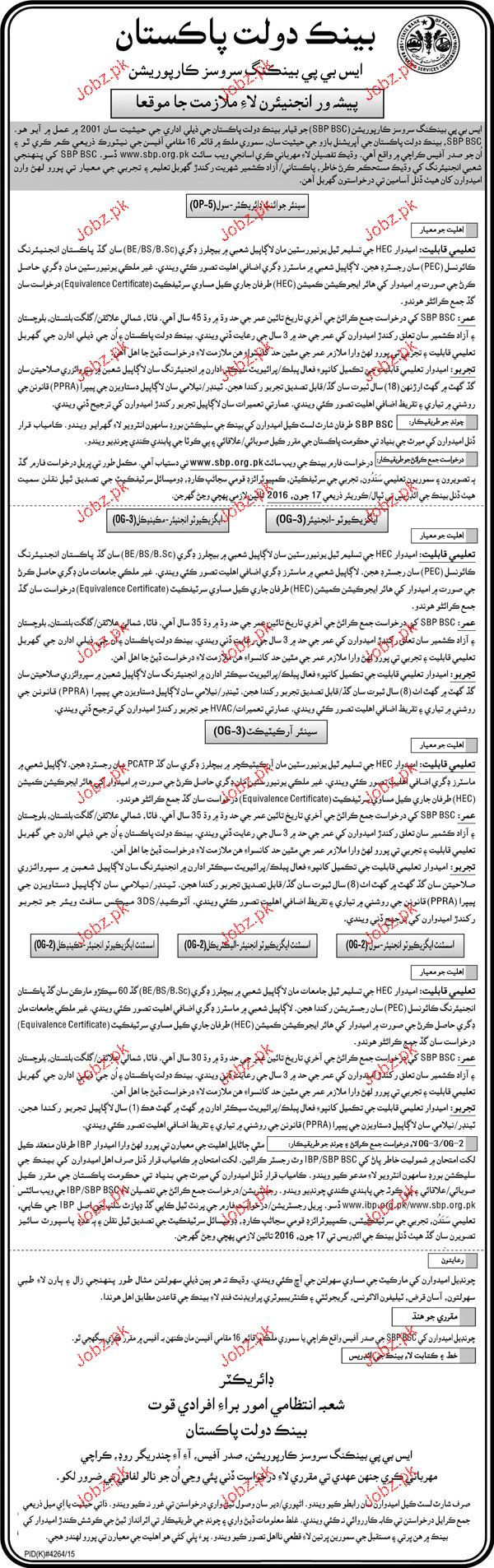 Senior Joint Director, Executive Engineers Job Opportunity