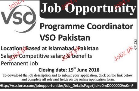 Programme Coordinators Job Opportunity