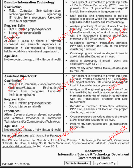 Director PPP, Director Finance Job Opportunity