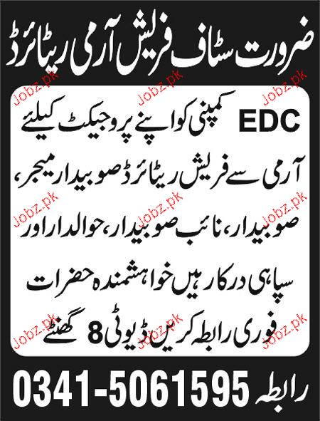 Retired Army Subdar Major Job Opportunity Jobz Pk