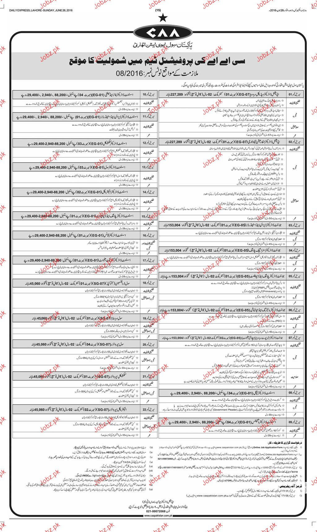Additional Director, Joint Directors Job in PCAA