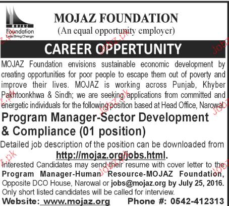 Program Manager Job Opportunity