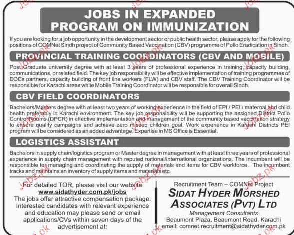 Provincial Training Coordinators Job Opportunity