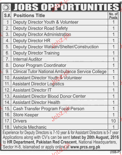 Deputy Director, Internal Auditor Job Opportunity