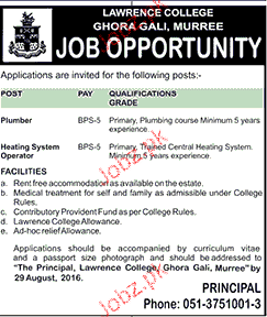 Plumbers and Heating System Operators Job Opportunity