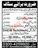 CNC Programmers, Production Supervisor Job Opportunity