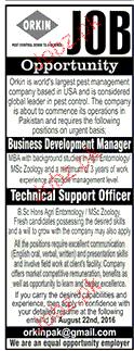 Business Development Manger Job Opportunity