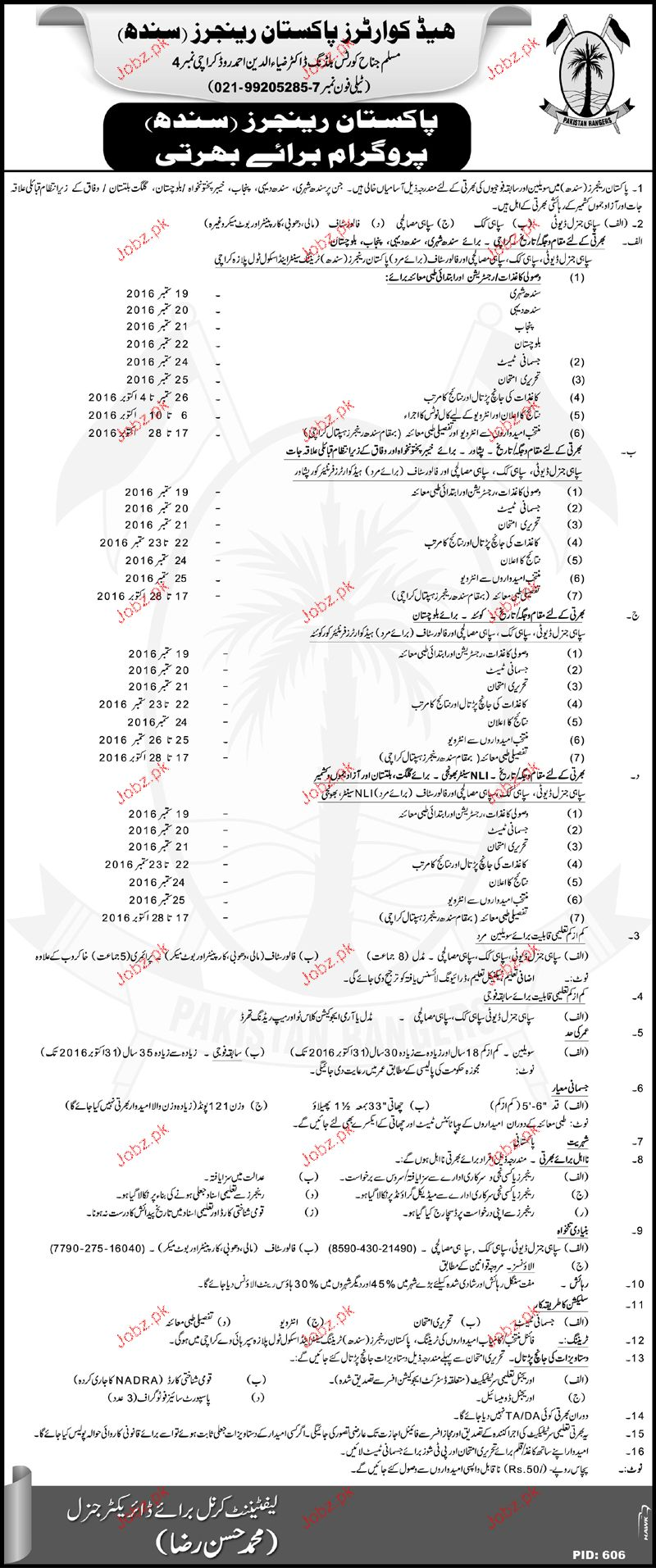 Recruitment of Police Constables in Sindh Ranger