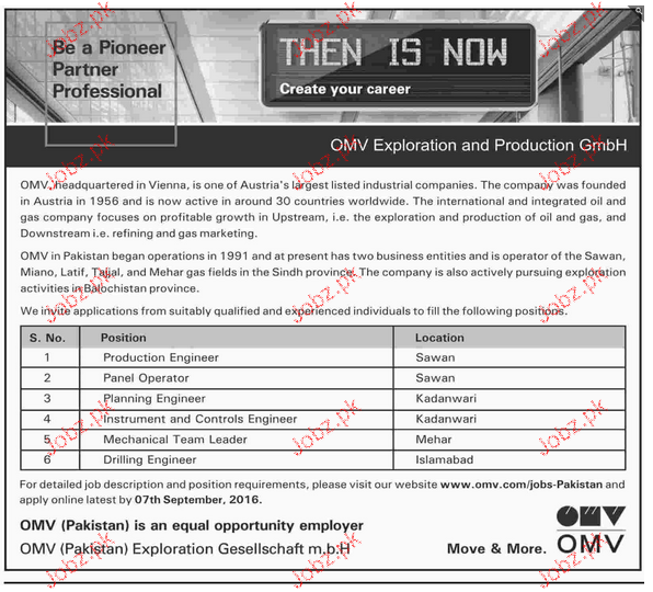 production engineers planning engineers job opportunity